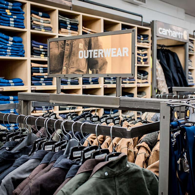 Walker's Farm outerwear clothing section