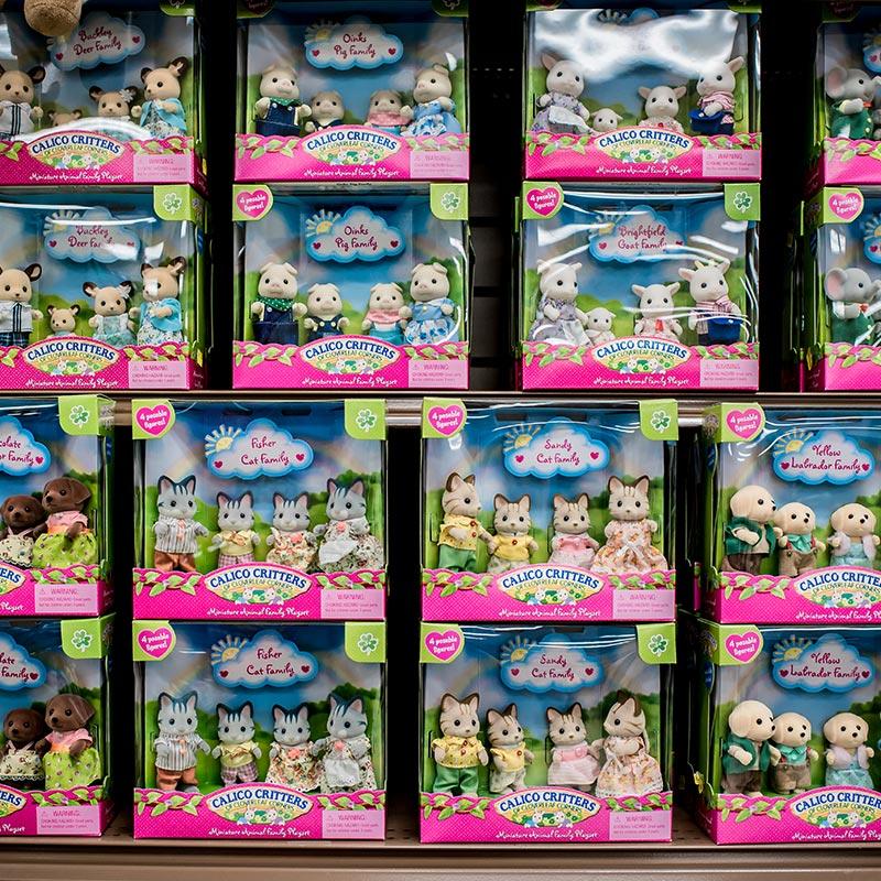 Walker's Farm calico critters toy shelf
